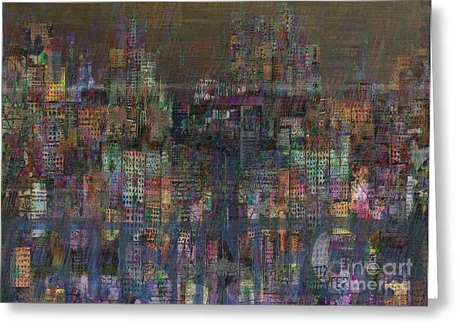 Financial Crisis Greeting Cards - Storm in the City  Greeting Card by Andy  Mercer