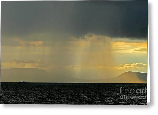Sweating Greeting Cards - Storm Greeting Card by Odon Czintos