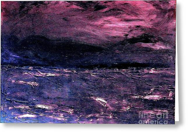Storm Of Storms Coming Greeting Card by Marsha Heiken