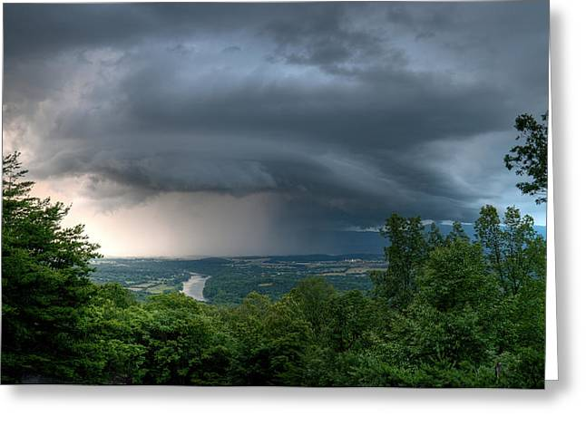 Impending Greeting Cards - Storm over Shenandoah Greeting Card by Lara Ellis