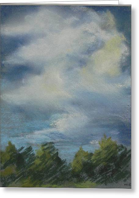 Storm Clouds Pastels Greeting Cards - Storm Passage  Greeting Card by Marlene Kingman