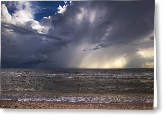 Storm Rider Greeting Card by Nick  Shirghio