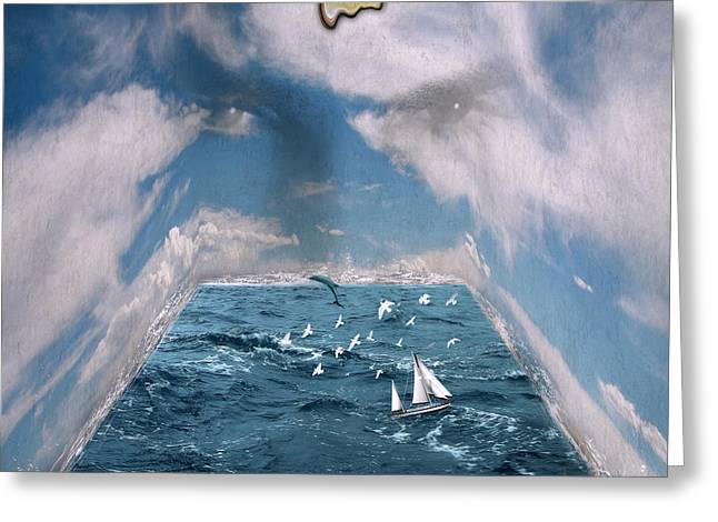 Sea Watch Greeting Cards - Storm Room  Greeting Card by Mark Ashkenazi