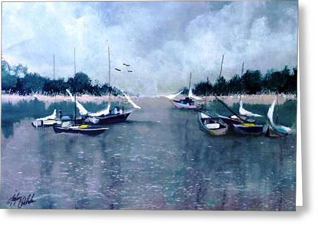 Summer Storm Paintings Greeting Cards - Storm Soon Greeting Card by John Chehak