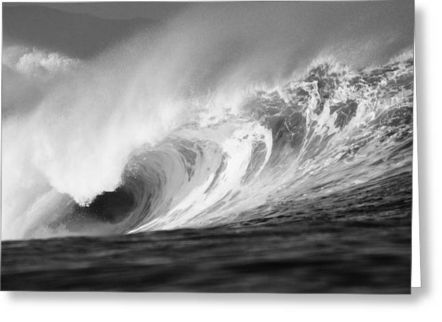 Vince Greeting Cards - Storm Wave - BW Greeting Card by Vince Cavataio - Printscapes