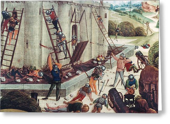 STORMING OF CASTLE Greeting Card by Granger