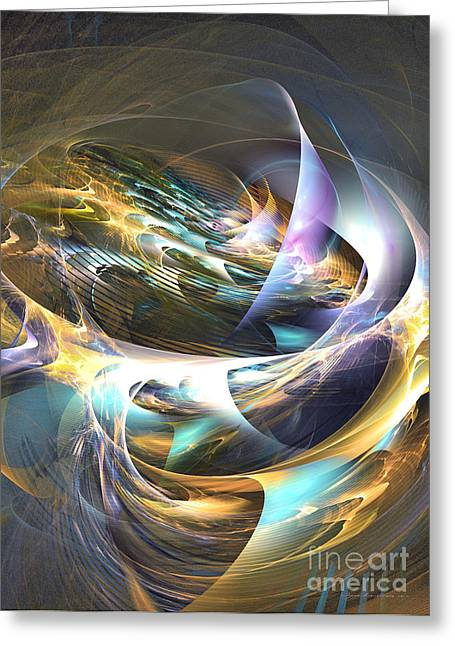 Storm's Ear - Fractal Art Greeting Card by Sipo Liimatainen