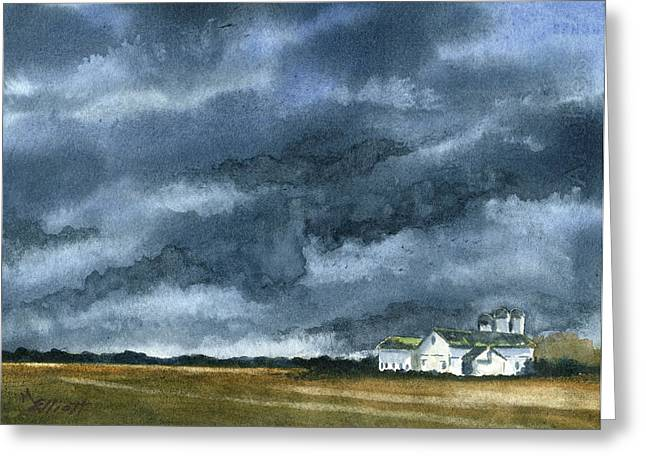 Storm Clouds Greeting Cards - Storms of Life Greeting Card by Marsha Elliott