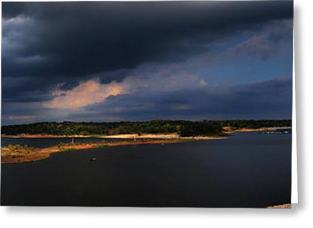 Fishing Boats Greeting Cards - Storms over Sardis Greeting Card by Joshua House