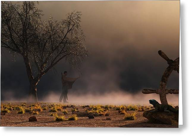 Sandstorm Greeting Cards - Stormwalk Greeting Card by Daniel Eskridge