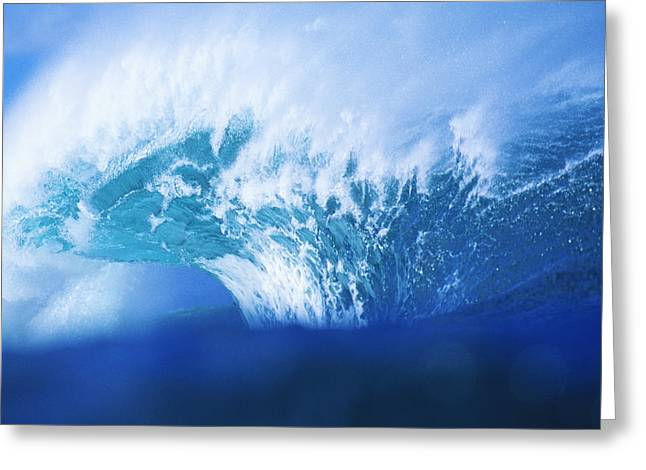 Vince Greeting Cards - Stormy Blue Wave Greeting Card by Vince Cavataio - Printscapes