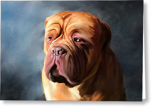Stormy Dogue Greeting Card by Michelle Wrighton