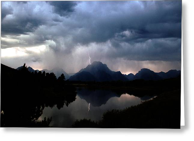 Stormy Mountain Greeting Card by Jonathan Schreiber