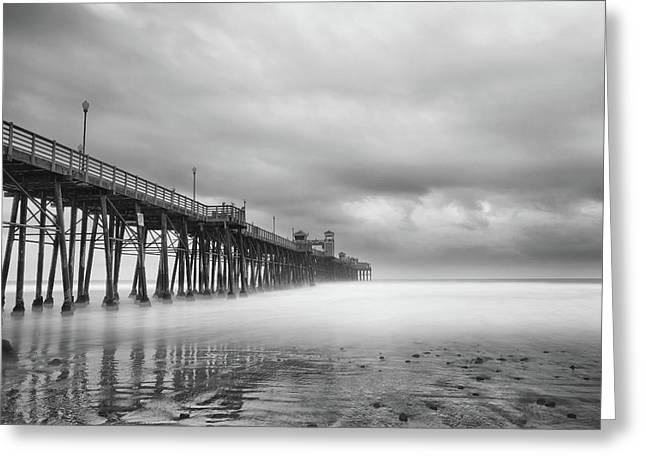 Stormy Oceanside Greeting Card by Larry Marshall