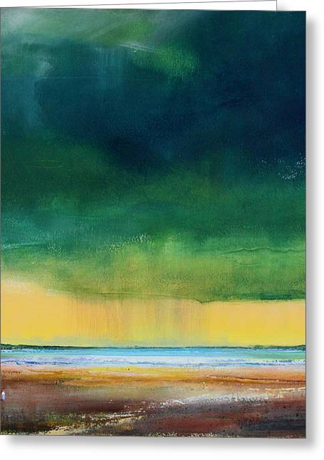 Storm Prints Paintings Greeting Cards - Stormy Seas Greeting Card by Toni Grote