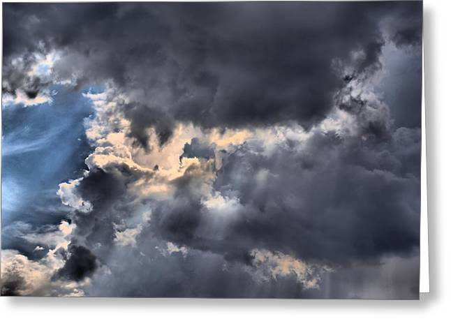 Lynnette Johns Greeting Cards - Stormy Skies Greeting Card by Lynnette Johns