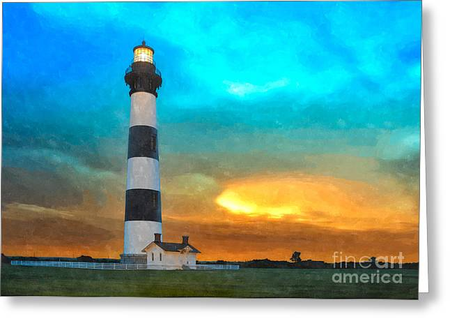 Storm Prints Greeting Cards - Stormy Sunrise WC Greeting Card by Dan Carmichael