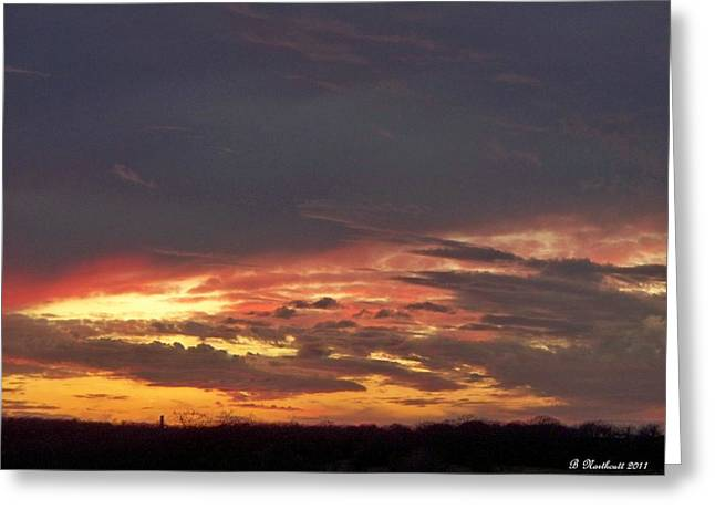 Betty Northcutt Greeting Cards - Stormy Sunset Greeting Card by Betty Northcutt