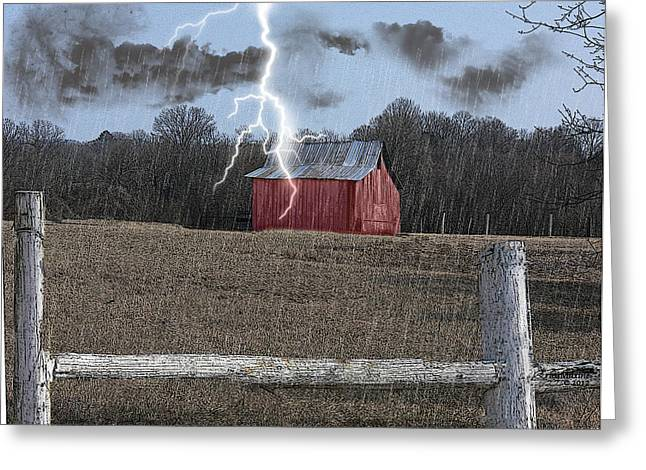 Tn Digital Art Greeting Cards - Stormy Weather Greeting Card by EricaMaxine  Price