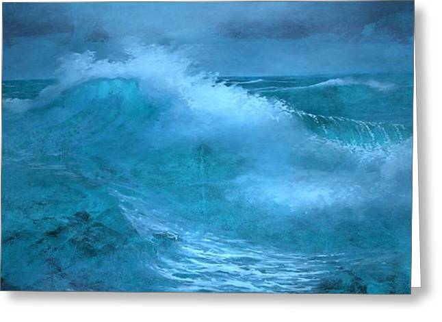 Colorful Sea Print Greeting Cards - Stormy Weather Greeting Card by Louis Ferreira