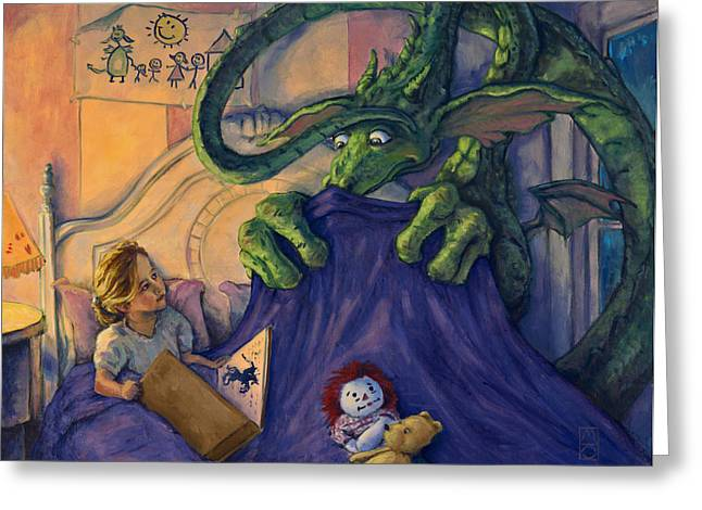 Story Time Greeting Card by Michael Orwick