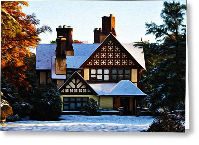 Storybook Greeting Cards - Storybook House Greeting Card by Bill Cannon