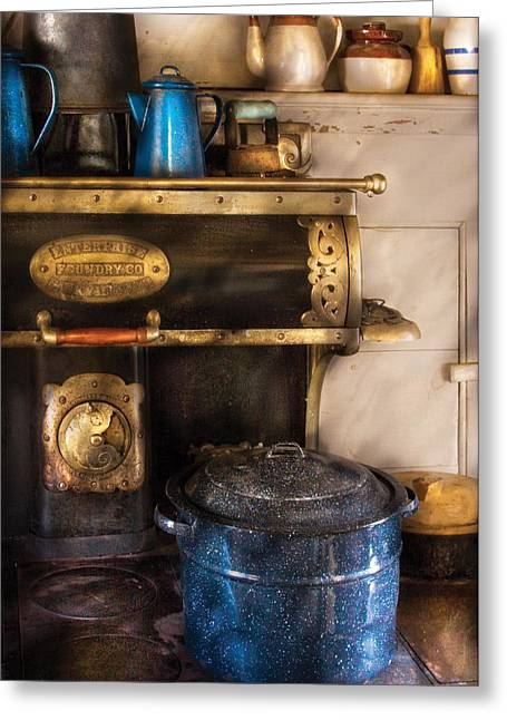 Enterprise Greeting Cards - Stove - The Stove Greeting Card by Mike Savad
