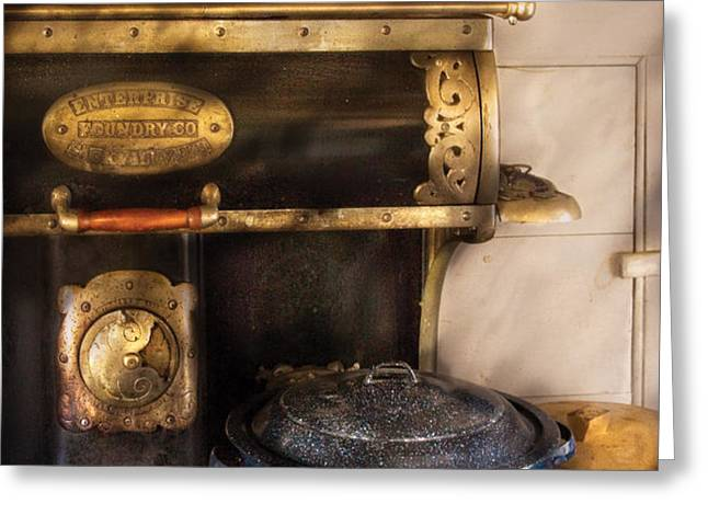 Stove - The Stove Greeting Card by Mike Savad