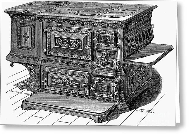 STOVE, 1876 Greeting Card by Granger