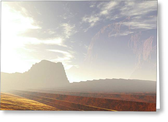 Terragen Greeting Cards - Stra2D Greeting Card by Napo Bonaparte