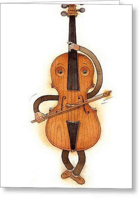 Music Greeting Cards - Stradivarius Violin Greeting Card by Kestutis Kasparavicius