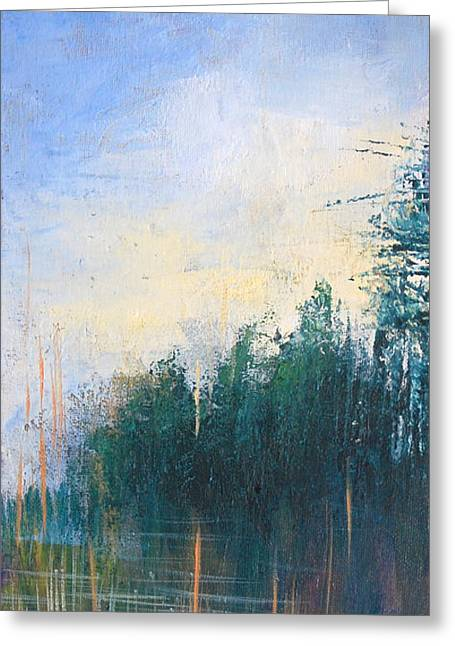 Pallet Knife Greeting Cards - Stranded Greeting Card by Melissa Peterson