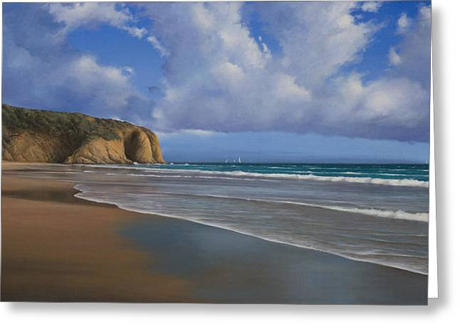 Danae Paintings Greeting Cards - Strands Beach Dana Point Painting Greeting Card by Cliff Wassmann