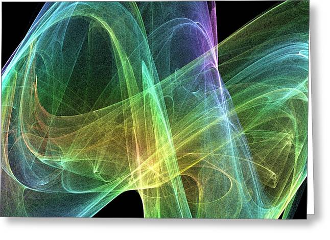 Geometric Artwork Greeting Cards - Strange Attractor, Artwork Greeting Card by Pasieka