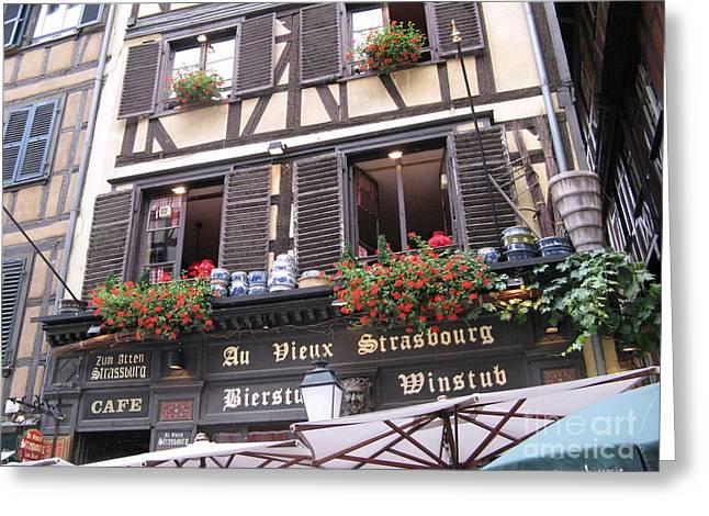Strasbourg Greeting Card by Arlene Carmel