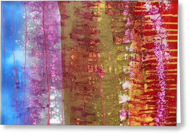 Strata Greeting Card by Mordecai Colodner