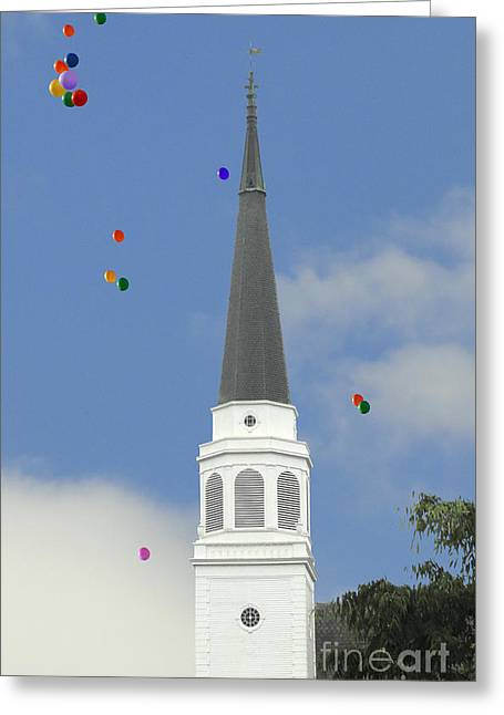 Stratford Ct Greeting Cards - Stratford Day Balloons Greeting Card by Melissa A Benson