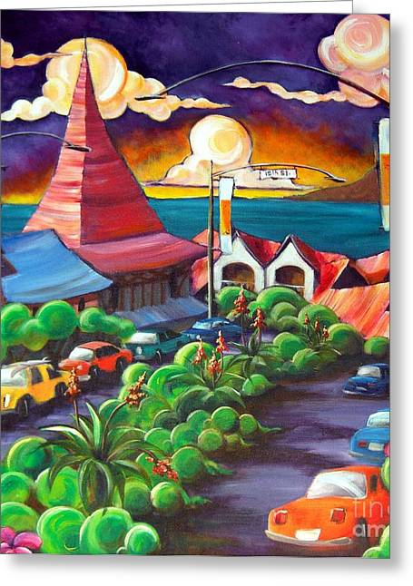 Surf City Greeting Cards - Stratford Square Greeting Card by Jerri Grindle