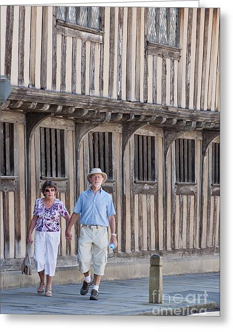 Couple With House Greeting Cards - Stratford upon Avon Greeting Card by Andrew  Michael