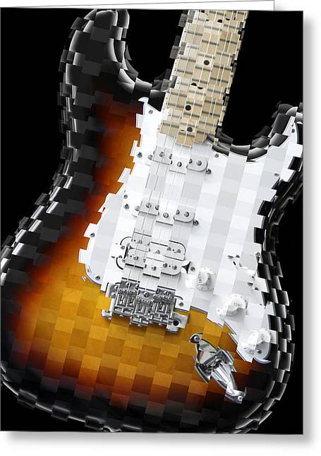 Imaginative Art Greeting Cards - Classic Guitar Abstract 2 Greeting Card by Mike McGlothlen