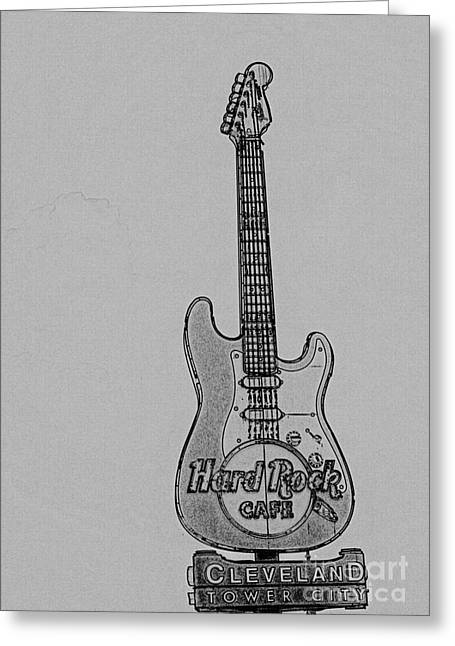 Hard Rock Cafe Greeting Cards - Stratocaster Rock Greeting Card by David Bearden