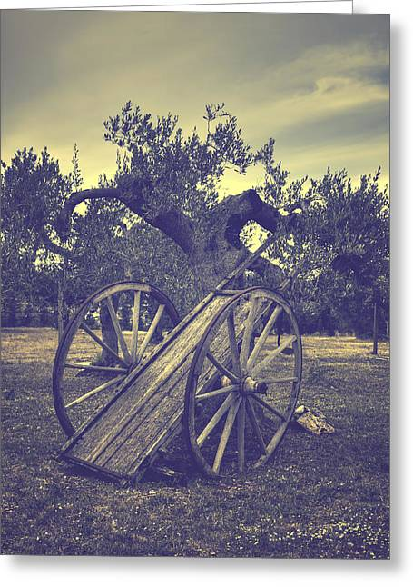 Straw Greeting Cards - Straw Cart Greeting Card by Joana Kruse