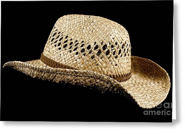 Old Hat Greeting Cards - Straw hat Greeting Card by Blink Images