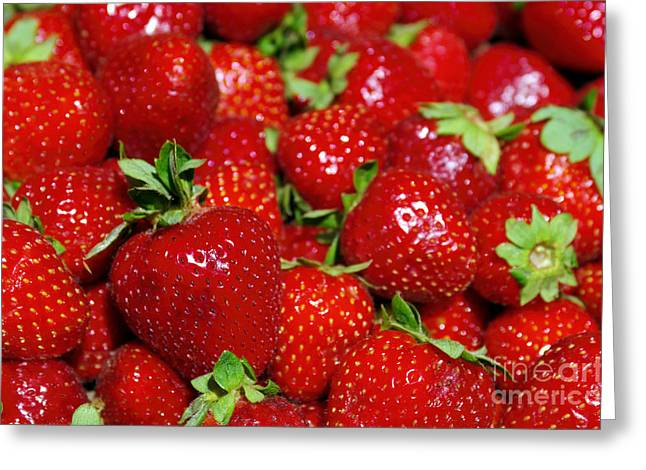 Organic Greeting Cards - Strawberries Greeting Card by Carlos Caetano