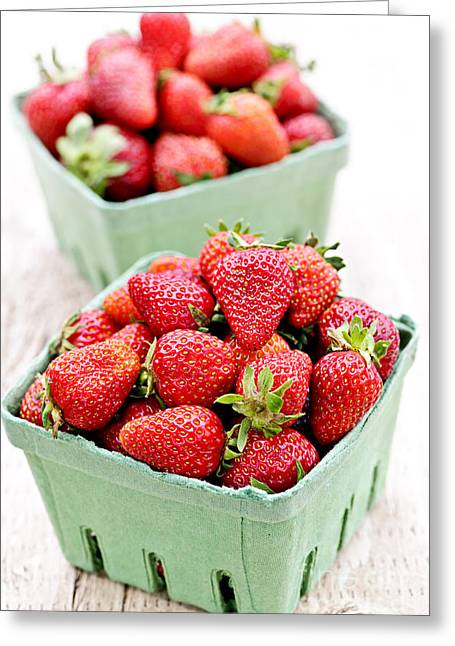 Healthy Greeting Cards - Strawberries Greeting Card by Elena Elisseeva