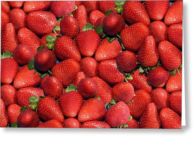 Wellbeing Greeting Cards - Strawberries Greeting Card by John Short
