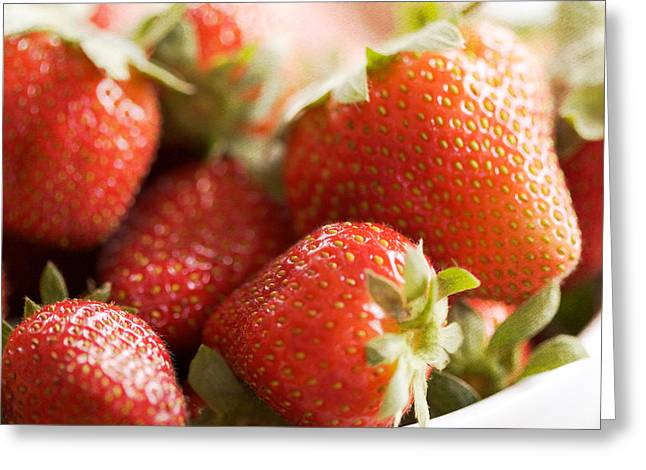 Strawberry Art Greeting Cards - Strawberries Greeting Card by Kim Fearheiley