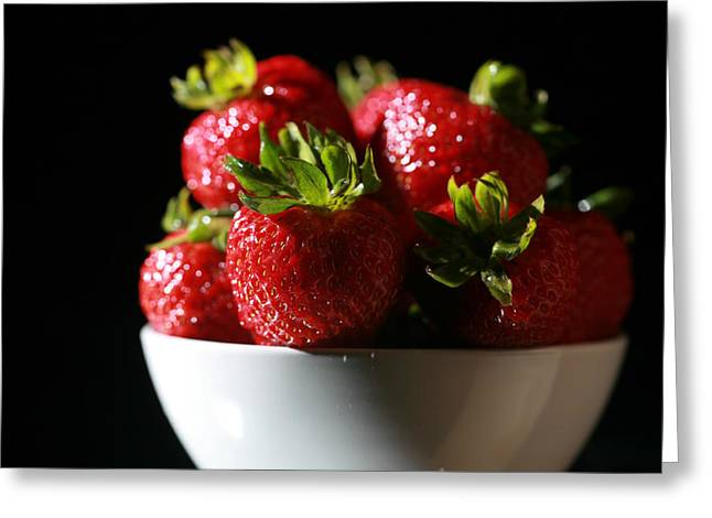 Lunch Box Greeting Cards - Strawberries  Greeting Card by Michael Ledray