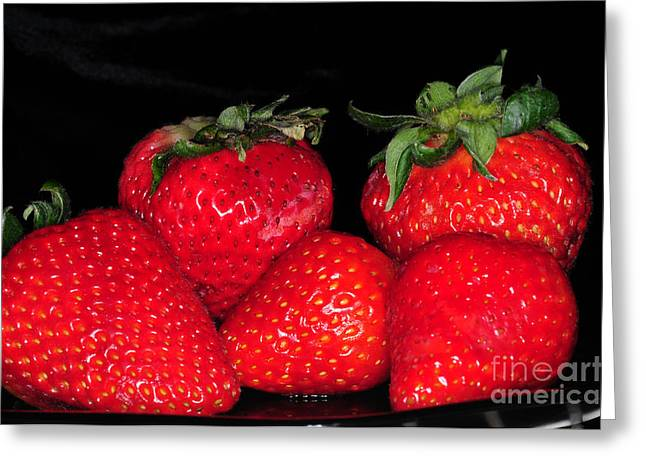 Culinary Greeting Cards - Strawberries Greeting Card by Paul Ward
