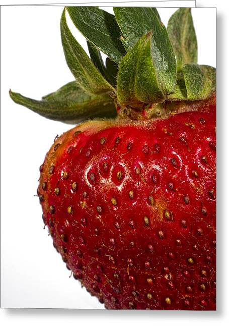 Strawberry Close Up No.0011 Greeting Card by Randall Nyhof